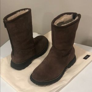 ☃️New Ugg Langley Chocolate Suede boots sz 7